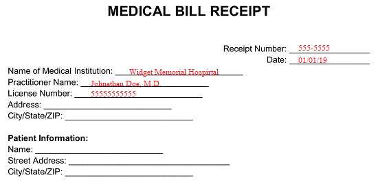 Medical Billing Template Forms from eforms.com