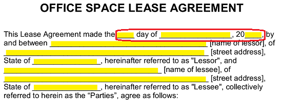 Free Commercial Office Space Lease Agreement Word Pdf