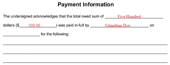 Paid (in-full) Receipt Template | eForms - Free Fillable Forms