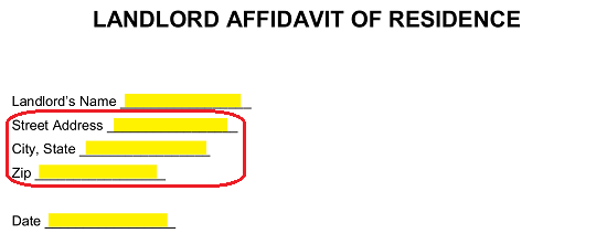 Letter Of Residency From Landlord from eforms.com