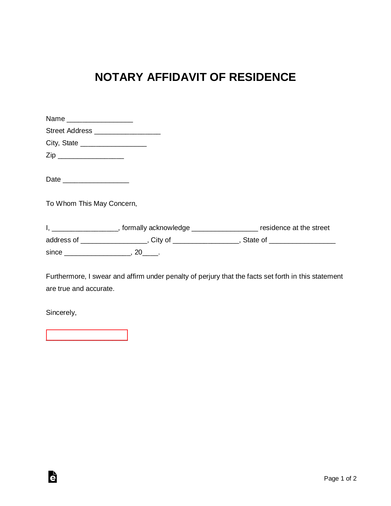 Where Do I Get A Letter Notarized from eforms.com
