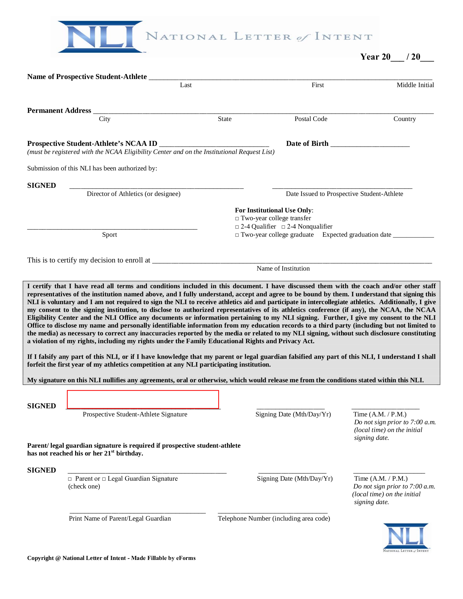 Letter Of Intent Forms from eforms.com