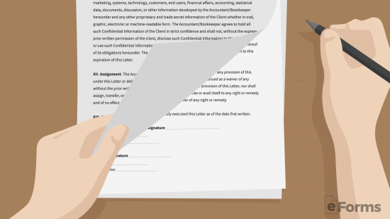 Sample Engagement Letter For Bookkeeping Services from eforms.com